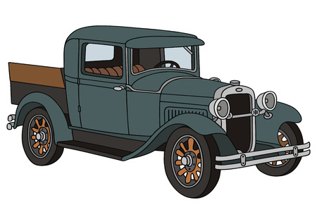hand drawing of vintage delivery truck Stock Vector - 23321739