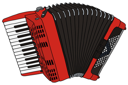 concertina: hand drawing of a accordion