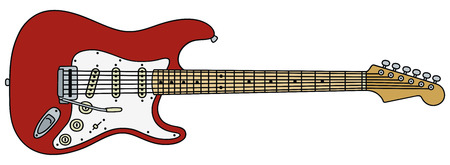 strat: hand drawing of a electric guitar