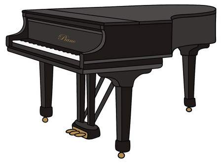 hand drawing of a piano