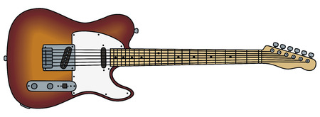 tele: hand drawing of a electric guitar
