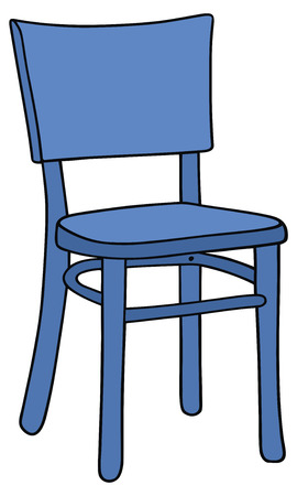 hand drawing of a blue chair