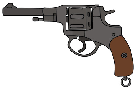 hand drawing of a old revolver