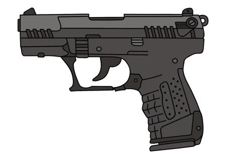 disegno a mano di un recente pistola Vettoriali