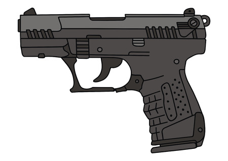 hand drawing of a recent handgun