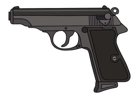 hand drawing of a handgun