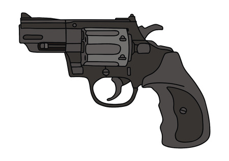 hand drawing of a recent revolver Illustration
