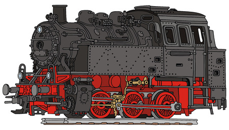 hand drawing of a old steam locomotive