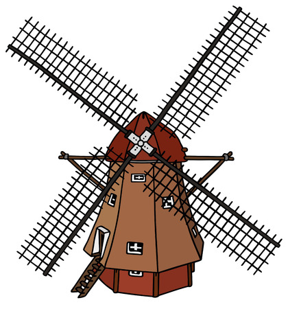 traditional dutch windmill Vector
