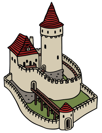 hand drawing of a gothic castle Vector