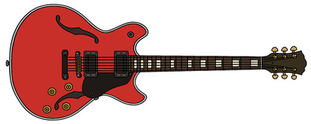 hand drawing of a classic electric guitar Illustration