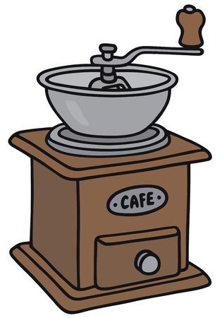 Handzeichnung eines Vintage Kaffeemühle