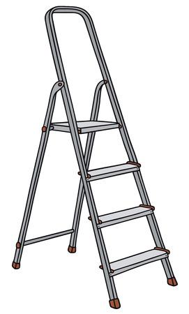手描きのステップ梯子の