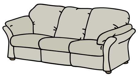 Hand drawing of a white sofa Vector