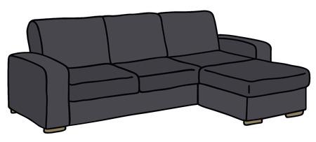 Hand drawing of a black sofa Vector