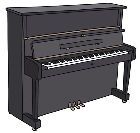 Hand drawing of a pianino Vettoriali