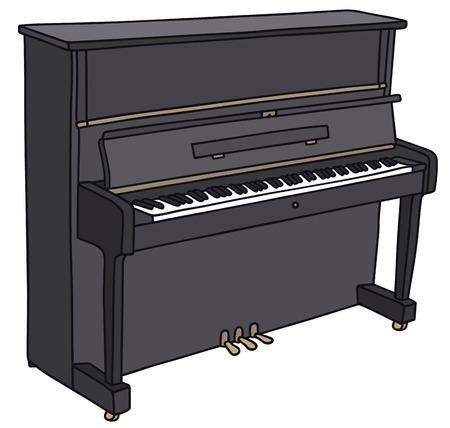 Gráfico de la mano de un pianino Foto de archivo - 31975419