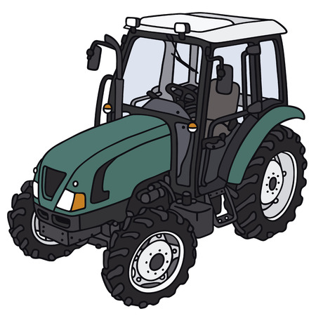 agronomic: Hand drawing of a tractor - not a real model