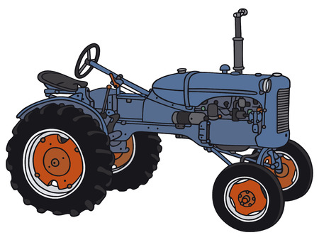 old tractor: Hand drawing of a classic tractor - not a real model Illustration