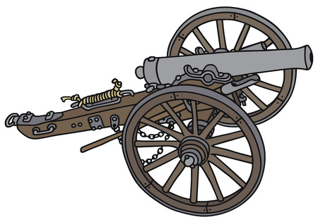 Hand drawing of a historical cannon Vector