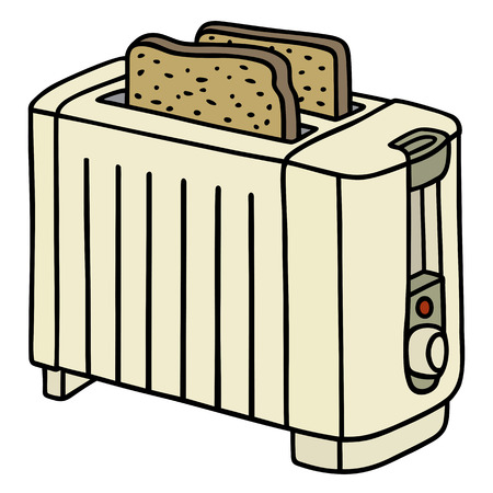 Hand drawing of an electric toaster Vector