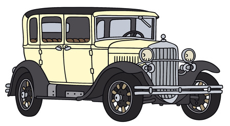 Hand drawing of a vintage car - not a real type Illustration