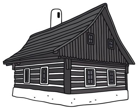 Disegno a mano di una casa popolare in legno