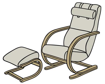 d�tente: Dessin � la main d'un fauteuil de relaxation