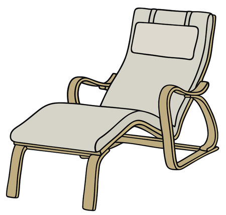 sitter: Hand drawing of a relaxation armchair Illustration