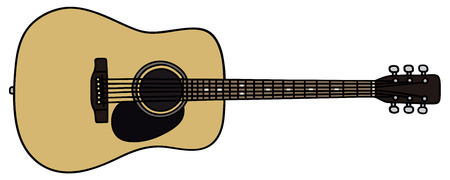 Hand drawing of an acoustic guitar - not a real model
