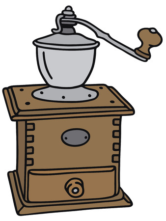 młynek do kawy: Strony rysunku antyczne młynek do kawy