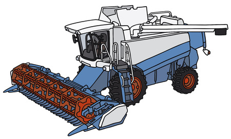 agronomic: Hand drawing of a harvester - not a real model