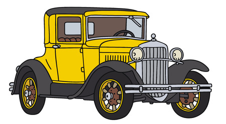 Hand drawing of a vintage coupe - not a real type