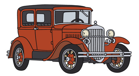 coupe: Hand drawing of a vintage car - not a real type Illustration