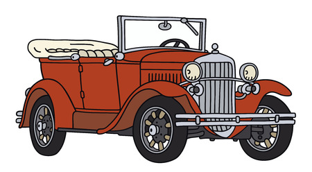 old timer: Hand drawing of a vintage cabriolet - not a real type