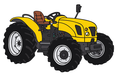 disegno a mano: Disegno a mano di un piccolo trattore - non un vero e proprio modello di