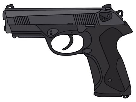 disegno a mano: Disegno a mano di una pistola Vettoriali