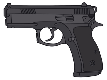 Hand drawing of a handgun Illustration