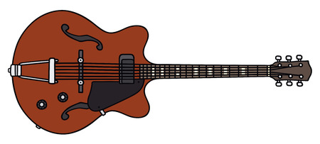 Hand drawing of a classic electric guitar - not a real model