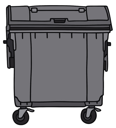 leavings: Hand drawing of a garbage container