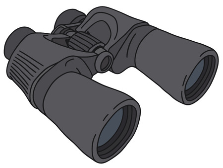 Hand drawing of a binoculars Illustration