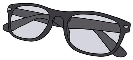 Disegno a mano di un occhiali