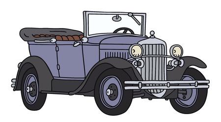 disegno a mano: Disegno a mano di una cabriolet d'epoca - non un vero e proprio tipo