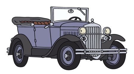 Hand drawing of a vintage cabriolet - not a real type