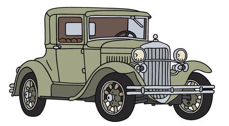 Disegno a mano di un auto d'epoca - non un vero e proprio tipo