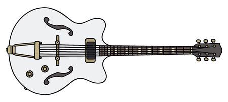 Disegno a mano di una chitarra elettrica classica - non un vero e proprio modello di