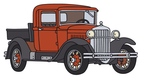 hand truck: Hand drawing of a vintage truck - not a real type Illustration