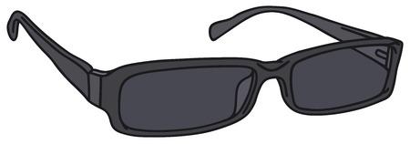 Disegno a mano di un occhiali neri
