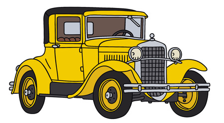 Hand drawing of a vintage car 일러스트