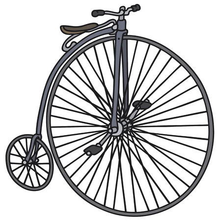 velocipede: Hand drawing of a vintage bicycle